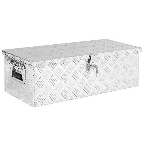 30″ x 13″ x 10″ Aluminum Truck Underbody Tool Box Trailer RV Tool Storage Under Bed w/Lock