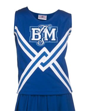 Teamwork Youth Crossover Cheer Shell with Crossover 3 Stripe Trim (X-Small)