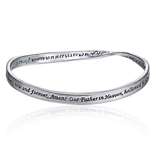 (Luvalti Reversible Faith Prayer Bracelet - Christian Jewelry for Women)