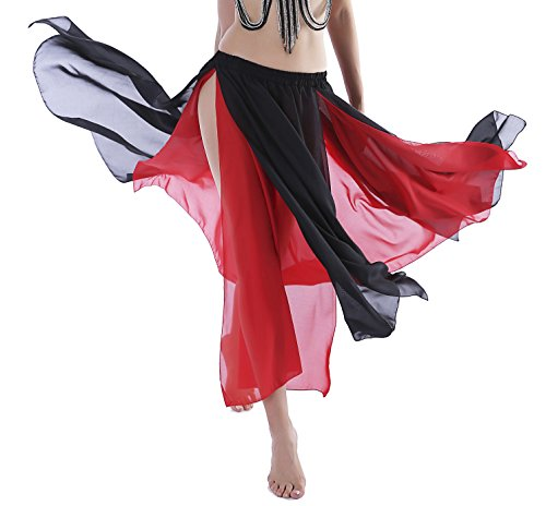 Black Maxi Skirt Plus Size Beach Skirt Bellydance Skirt for Women Costumes 4 6 8 10 12