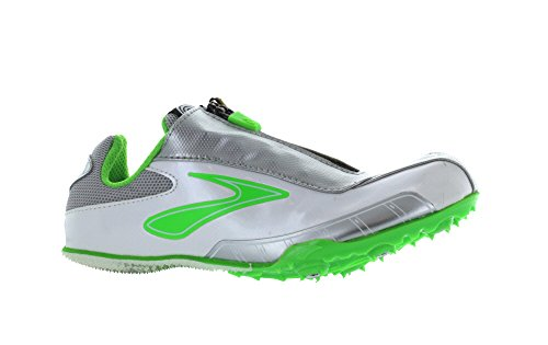 Brooks Women's Pr Sprint Running Shoe,Neon Green/Silver/Pearlized White,6.5 B US