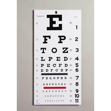 Snellen Eye Chart - Model 8502 - Each