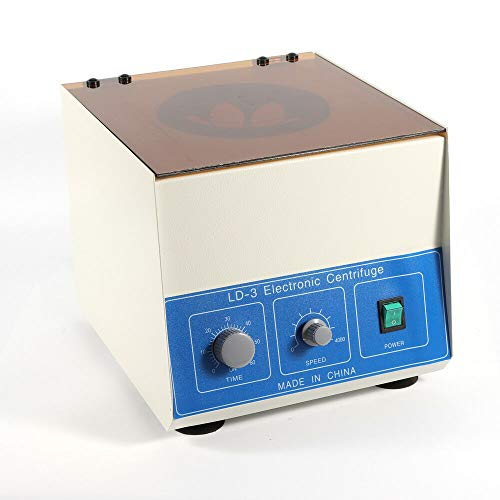 Wanlecy Electric Lab Benchtop Centrifuge, LD-3 Low-Speed 4000rpm Centrifuge Machine 6 Tubes x 50ml, with Timer 0-60min and Speed Control
