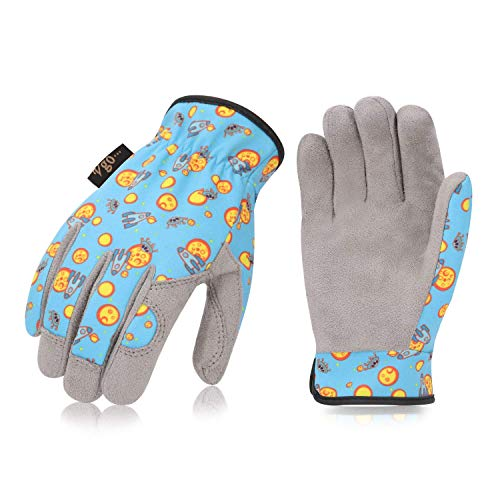 Vgo 2Pairs 3-4 Years Old Kids Gardening,Lawning,Working DIY Gloves(Size KID:XS,2 Color,KID-MF7362)