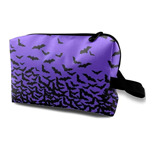 Bat Flying Cosmetic Bags Stranger Things Makeup Bag With Brush Pouch Portable Zipper Wallet Hangbag Pen For Girl And Woman Necessary ()