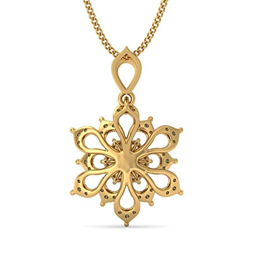 Or jaune 14 K 0,66 CT TW Round-cut-diamond (IJ | SI) Pendentif