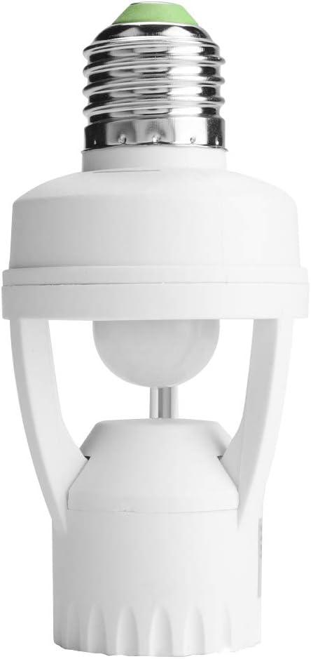 Toilettes Escaliers Garages Riuty Douille de Lampe E27 /à d/étecteur de Mouvement,Douille de Douille de Douille de Lampe /à D/étecteur R/églable avec E27 pour Couloirs