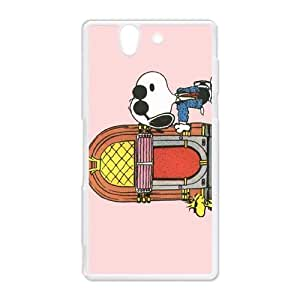 Custom Yourself Style Snoopy Funny&Cute Samsung Sony Xperia Z Case Cover Best Protective Durable Hard Plastic Cover