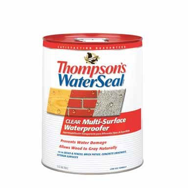 Thompson's TH.024105-20 Waterseal Clear Multi-Surface Waterproofer, five gallon bucket (Thompson Water Seal On Pressure Treated Wood)