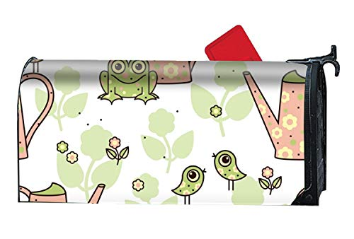 BABBY Garden Frogs Mailboxes Cover Rust-Proof Mail Box Covers Large Capacity Post Mouth ()