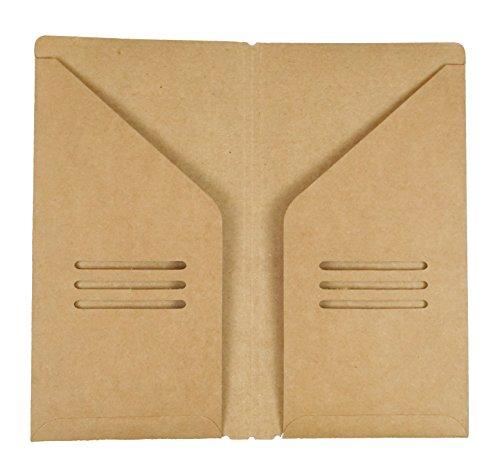 OfficeA Traveler's Notebook Refill Craft Paper Bag (210mm x 110mm, Craft Paper Pocket) (Mm Bag 110)