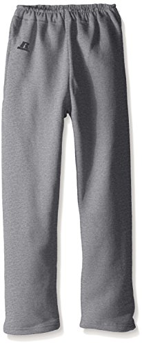 Russell Athletic Boys' Big Youth Dri-Power Fleece Open Bottom Pocket Pant, Oxford, Medium (Pocket 6 Pant Youth)