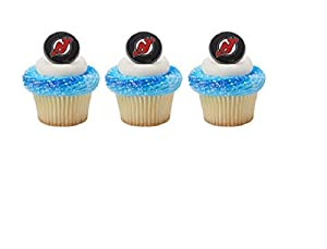 Amazoncom 12 CUPCAKE topper RINGS new NEW JERSEY nj DEVILS