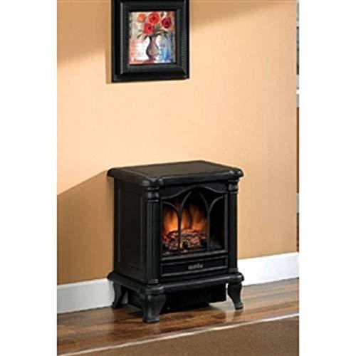 Black Freestanding Electric Stove Style Fireplace Space Heater Heater Space Fireplace Electric Portable Infrared Room Black Stove Quartz Svitlife