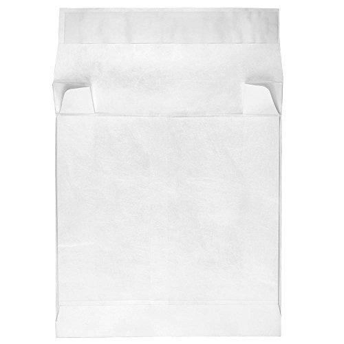 JAM Paper White Tyvek w/ Peel & Seal Closure - 10 x 12 x 4 - 250/Pack by JAM Paper
