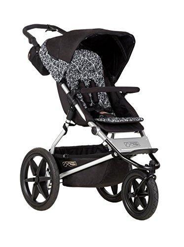 300 D Polyester Water Resistant, Graphite Terrain Premium Jogging Stroller