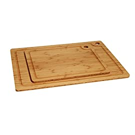 Seville Classics Bamboo Cutting Board with 5 Removable Cutting Mats 9 Durable, attractive bamboo construction. Fast-growing and plentiful, bamboo is stronger, more sustainable, and easier on knives than other hardwood cutting boards Includes 7 brightly color-coded cutting board mats that make clean up easy and help prevent cross contamination when preparing fruits, vegetables, cheese, meat, fish, poultry, dough and baked goods Flexible cutting mats are BPA free and designed to fit snugly into the top surface of the cutting board; use them with the cutting board or separately, and store them inside the cutting board when not in use