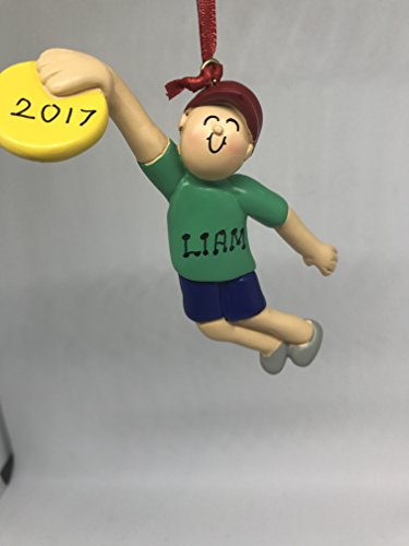 Frisbee Player (Personalized Frisbee Player Ornament(Male))
