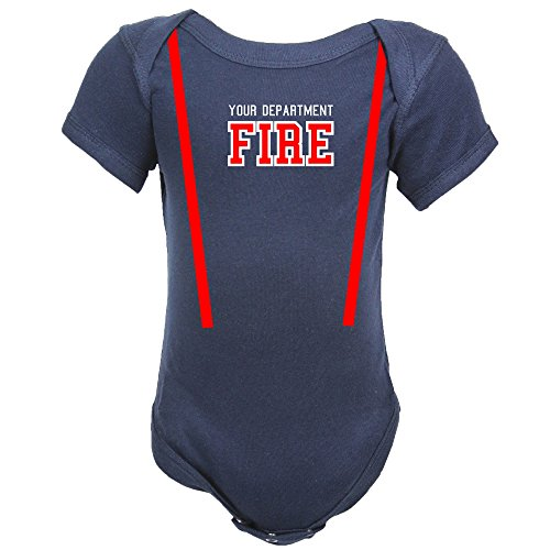 Personalized Firefighter Baby Bodysuit (12 (Firefighter Bodysuit Infant Costume)