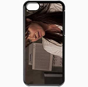 Personalized iPhone 5C Cell phone Case/Cover Skin Amanda Tapping Brunette Jacket Picture Actress Black