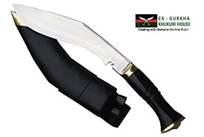 Genuine Nepal Army Service Khukuri - Authentic Gurkha Issue Kukri Knife or Khukris Handmade By Ex Gurkha Khukuri House in Nepal by Ex Gurkha Khukuri House
