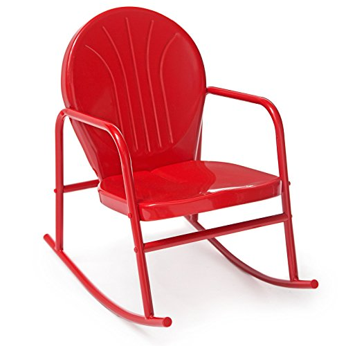 Cheap  Coral Coast Vintage Retro Steel Single Rocker