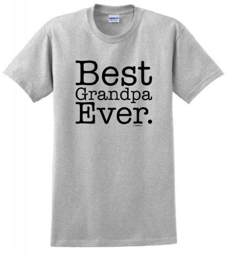 - Best Grandpa Ever T-Shirt 2XL Ash