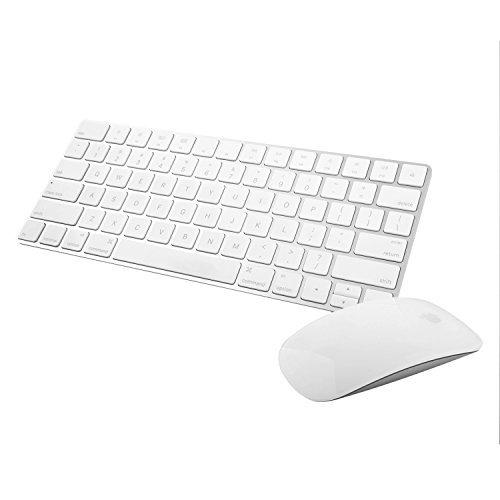 Apple Wireless Magic Keyboard 2 -MLA22LL/A with Apple Magic Bluetooth Mouse 2 -MLA02LL/A (Renewed) (Apple Computer Wireless Keyboard)