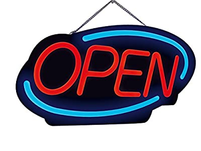 Royal Sovereign Neon LED OPEN sign, Electric open sign advertisement for business, window, bar, wall, shop, hotel, Ultra-Bright, Flashing (RSB-1340E)