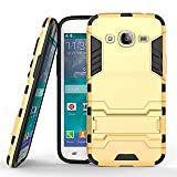 Vinjhraat Kickstand Diffender Cover For Samsung Galaxy Grand 2 Back Cover in Gold Colour