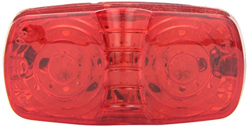 Grote G4602-5 Hi Count Red Square-Corner 13-Diode LED Clearance Marker Light (Red Hi Lights)
