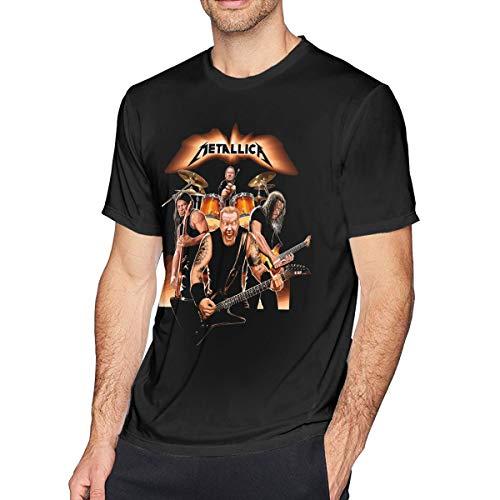 Men's Metallica Band Black T-shirt - S to 6XL