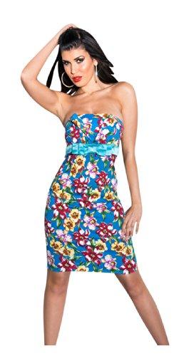 KouCla - Vestido - Sin tirantes - para mujer turquesa