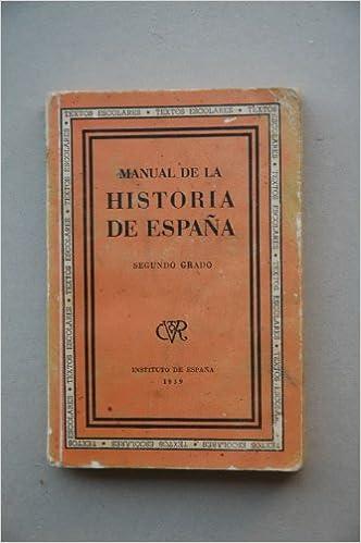 MANUAL de historia de España. Segundo grado: Amazon.es: Libros