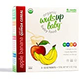 8x Organic Apple Banana Infant & Baby Cereal Travel Packs w/Naturally Occurring Omega 3, 6, 9 Protein, Iron, Magnesium, B2. Easiest First Foods to Digest. By WutsupBaby – 4oz (8 pack x 0.5oz)
