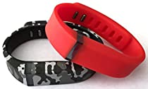 Small 1 Real Red 1 Camouflage Camo Army Military Color Band for Fitbit FLEX Only With Clasps Replacement /No tracker/