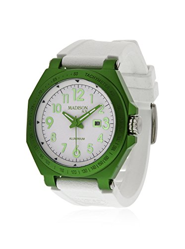 Madison Candy - Madison Candy Time White Dial Green Aluminum Unisex Watch G4452-02