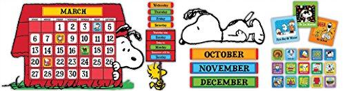 Eureka Peanuts and Snoopy Classroom Calendar for Teachers, 0.1'' x 18'' x 28'', 112pc]()