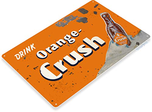 "Tinworld TIN Sign ""Orange Crush"" Soda Logo Metal Decor Wall Art Store Bar A534 ()"