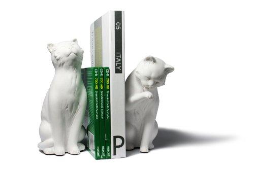 Danya B. Cat Bookend Set, White by Danya B