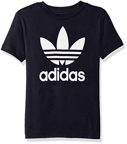 adidas Originals Big Boys' Trefoil Tee, Legend Ink/White, M