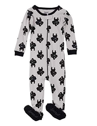 Leveret Kids Pajamas Baby Boys Girls Footed Pajamas Sleeper 100% Cotton (Gorilla, Size 6-12 -
