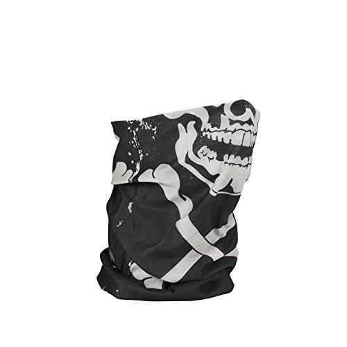 2014 Zan Headgear Skull Crossbones Fleece Lined Motley Tube - One Size
