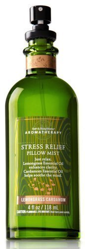 Bath & Body Works Aromatherapy Lemongrass Cardamom Stress Relief Pillow Mist 4 fl oz (118 ml) by Bath & Body Works