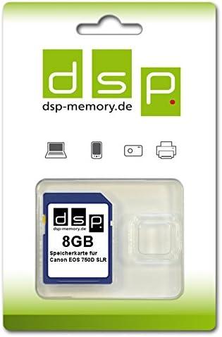 Dsp Memory 8gb Speicherkarte Für Canon Eos 750d Slr Computer Zubehör