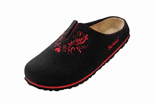 Betula Damen Lei Soft Textile Weichbettung Schmal Clogs Black