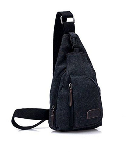 MiCoolker Shoulder Black Small Canvas Bag Messenger Military Crossbody pfpHRxq