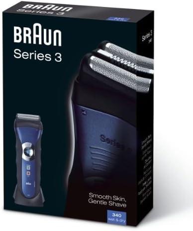 Braun Series 3 340 eléctrico batería Wet & Dry macho Foil Shaver ...