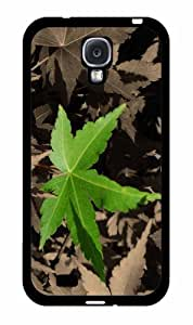 Zheng caseGreen Leaf - Phone Case Back Cover (Galaxy S4 - 2-Piece Dual Layer)