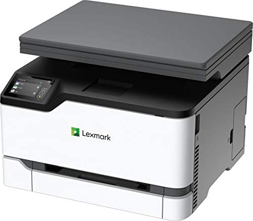 Lexmark MC3224dwe Color Multifunction Laser Printer with Print, Copy, Scan, and Wireless Capabilities, Two-Sided Printing with Full-Spectrum Security and Prints Up to 24 ppm (40N9040), White, Gray